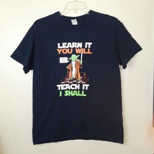 "Gildan Yoda  ""Learn It Teach it"" Graphic T-Shirt"